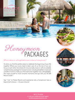 HONEYMOON PACKAGES, PALACE RESORTS
